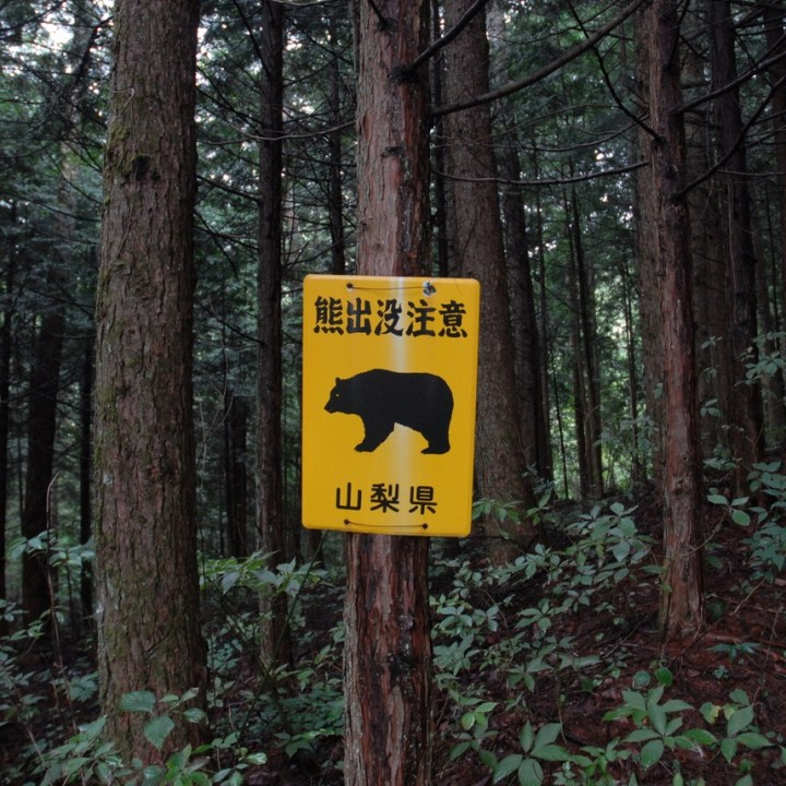 travel with kids japan fujiyoshida hiking beware bear