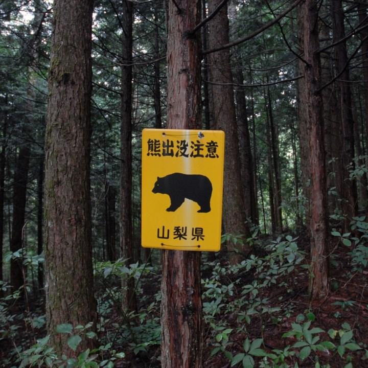 travel with kids japan fujiyoshida hiking beware bear