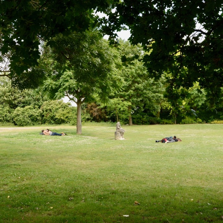 crystal palace park with kids picnic spot