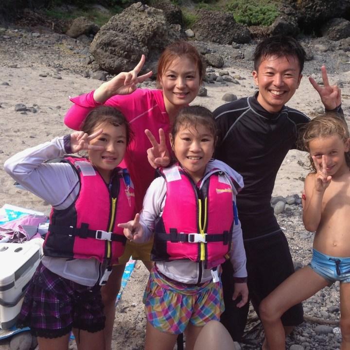 japan with kids izu peninsular touji beach say cheese