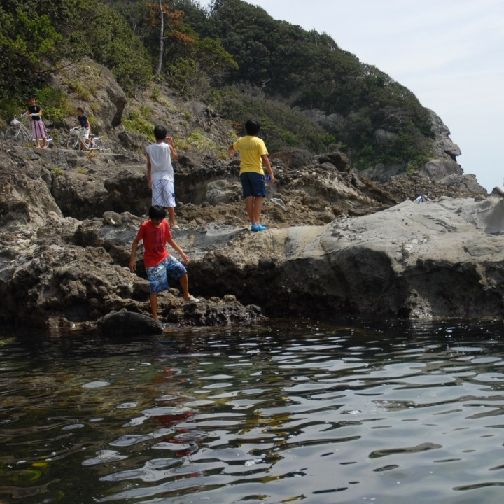 Japan izu shimoda with kids wild swimming