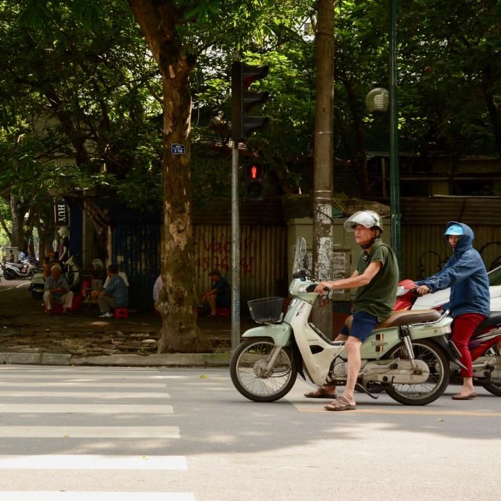 travel with kids vietnam hanoi moped