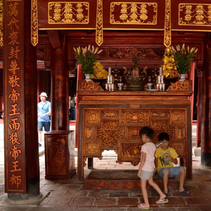 Travel with kids Vietnam hanoi temple of literature