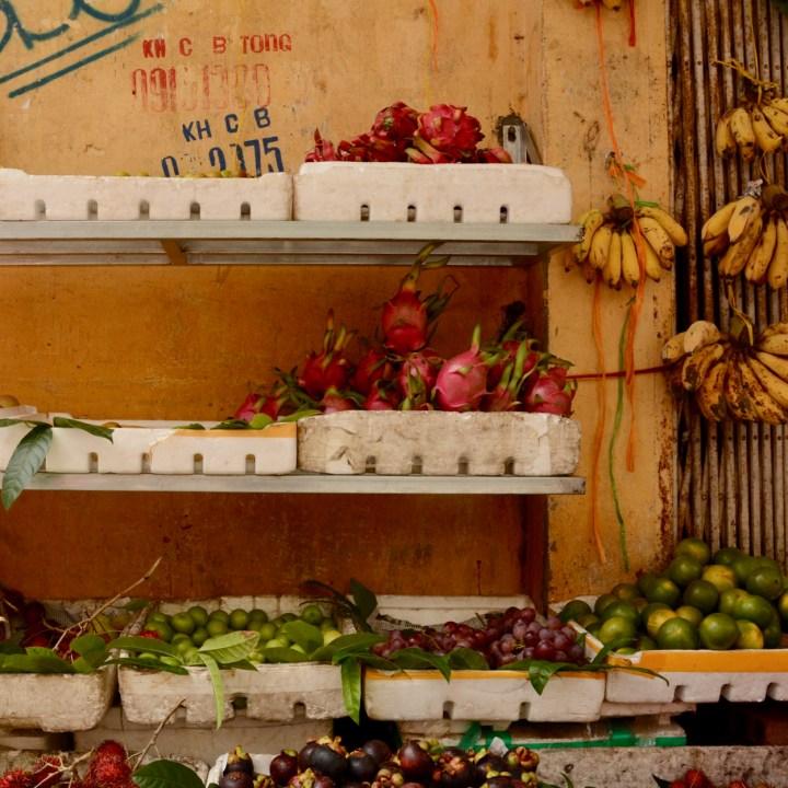 travel with kids vietnam hoi an fruit stall