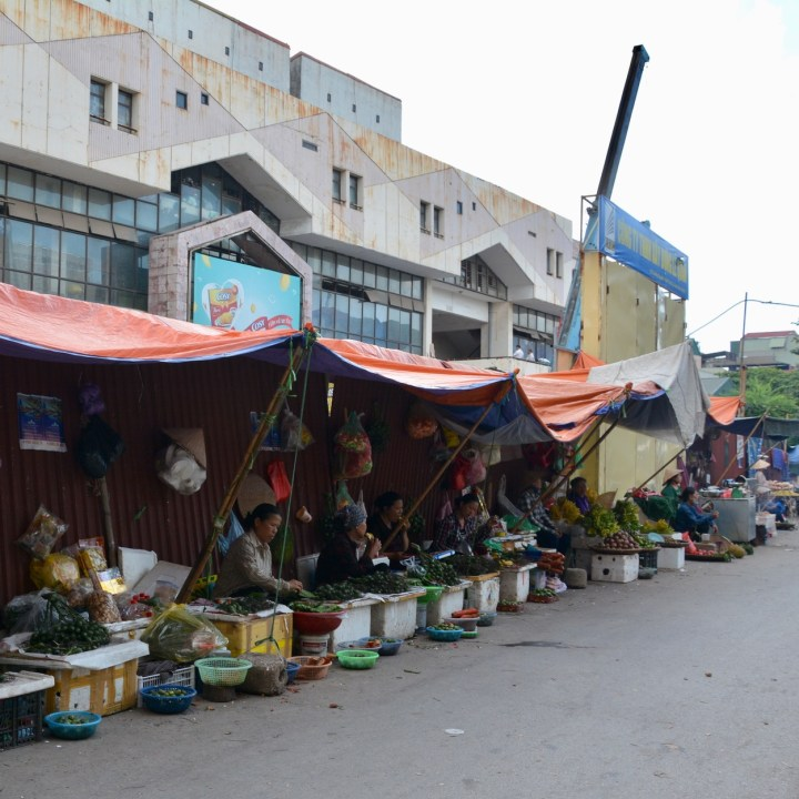 travel with kids vietnam hanoi market stalls