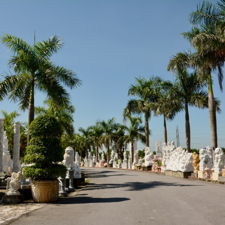 vietnam with kids ha long bay marble sculptures