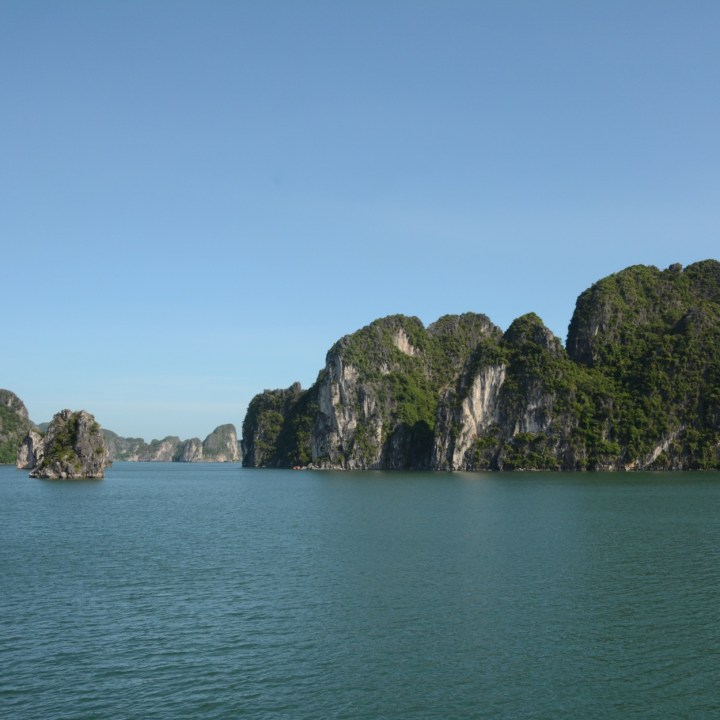 vietnam with kids ha long bay limestone karsts