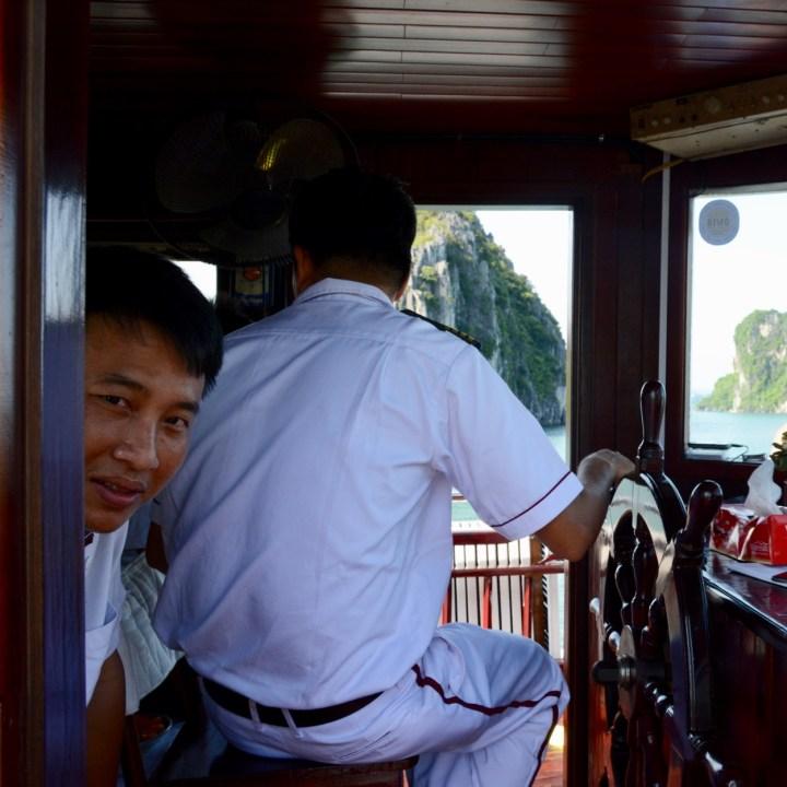 vietnam with kids ha long bay captain