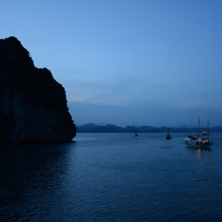 vietnam with kids ha long bay evening