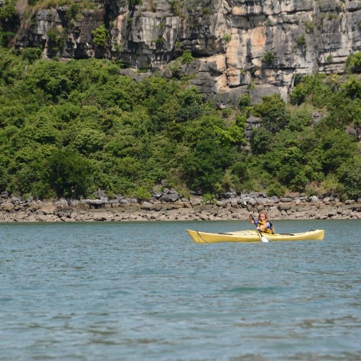 vietnam with kids ha long bay kayaking