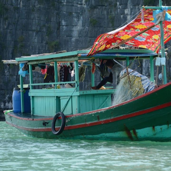 vietnam with kids ha long bay fisher