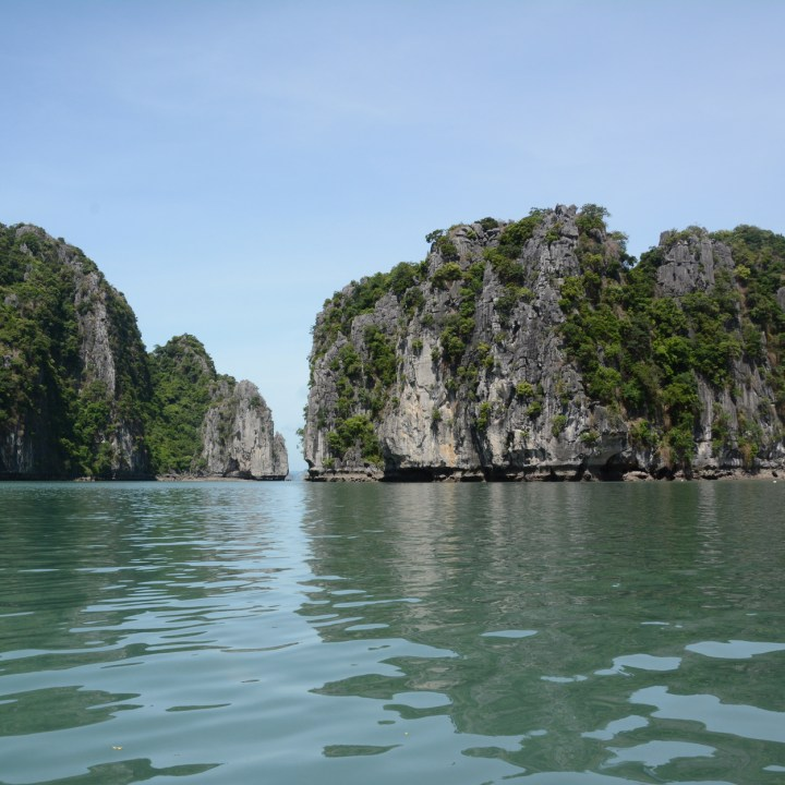 vietnam with kids ha long bay limestone karst