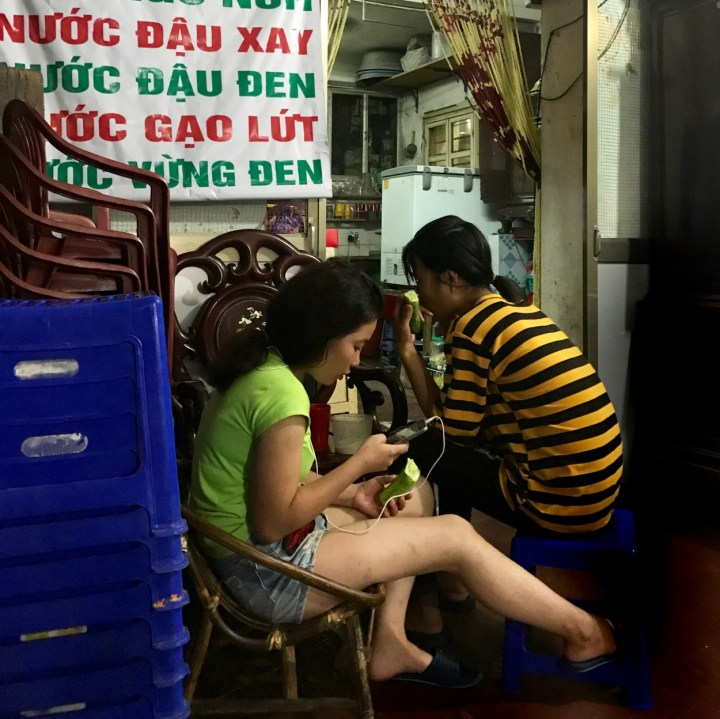 travel with kids vietnam hanoi mobile phone addiction