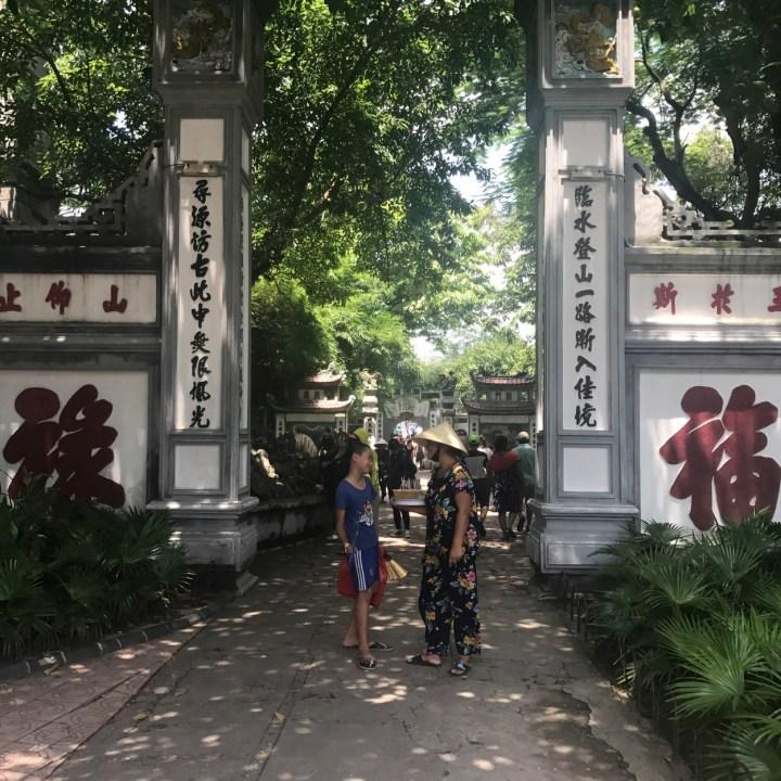 travel with kids vietnam hanoi temple