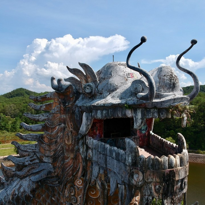 vietnam with kids hue abandoned waterpark dragon's mouth