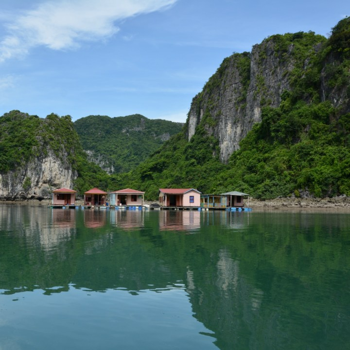 vietnam with kids ha long bay floating houses