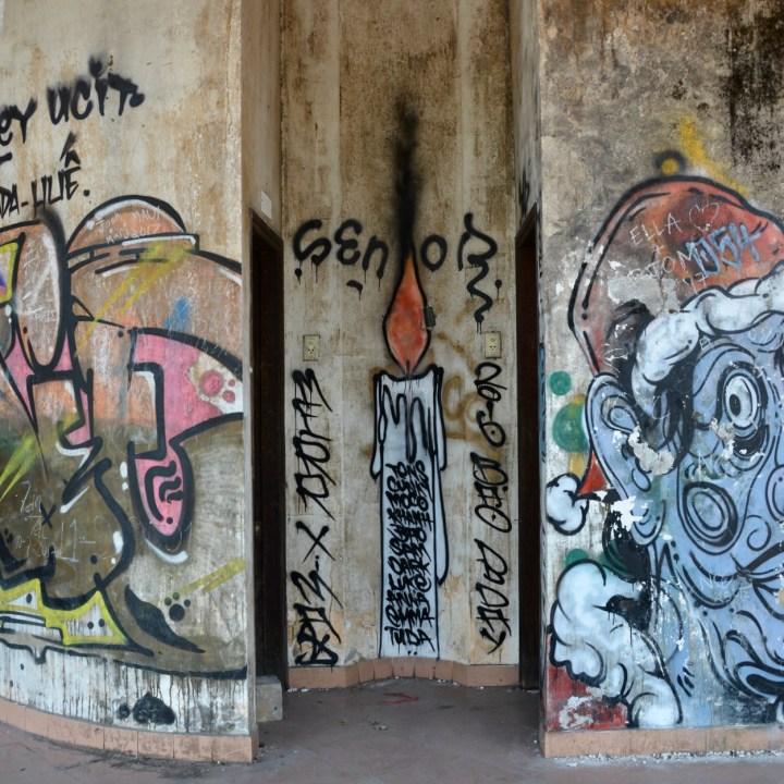 vietnam with kids hue abandoned waterpark street art