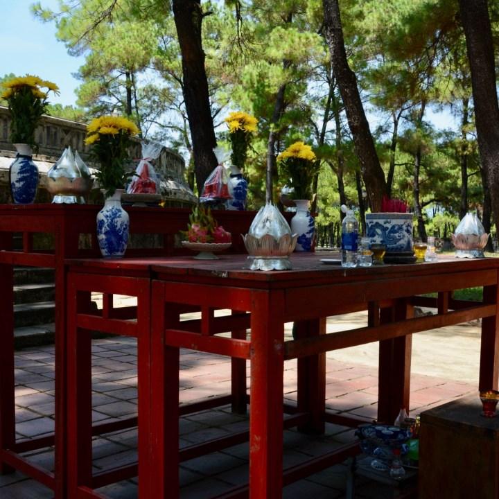 vietnam with kids hue altar offerings