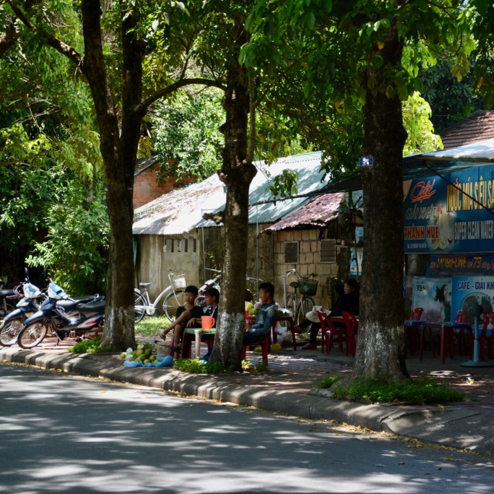 vietnam with kids hue street cafe