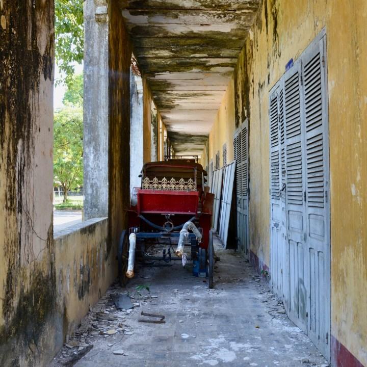vietnam travel with kids hue citadel ricshaw