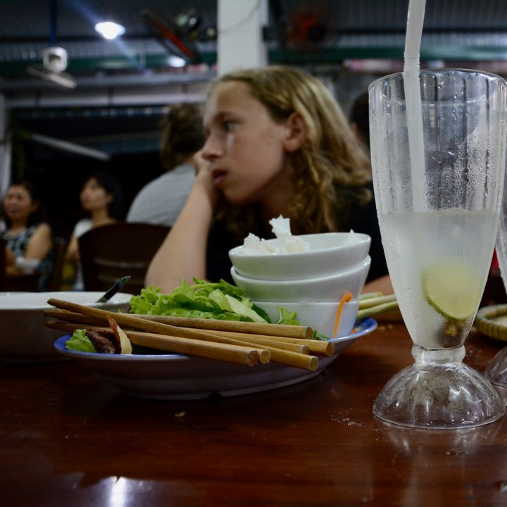 vietnam with kids hue evenings chilled lemon water