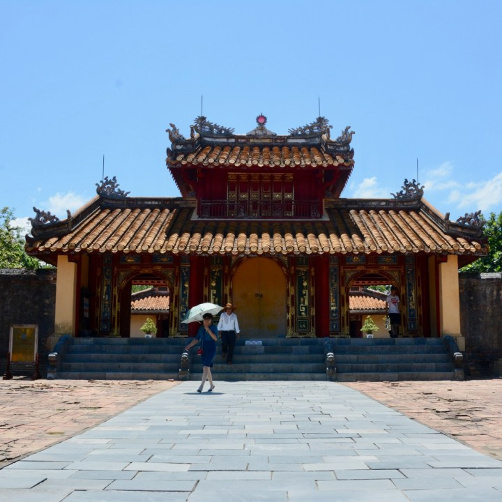 vietnam with kids hue tomb minh mang gate
