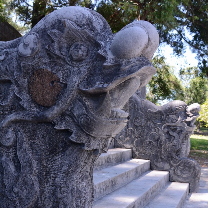 vietnam with kids hue tomb minh mang dragon stairs