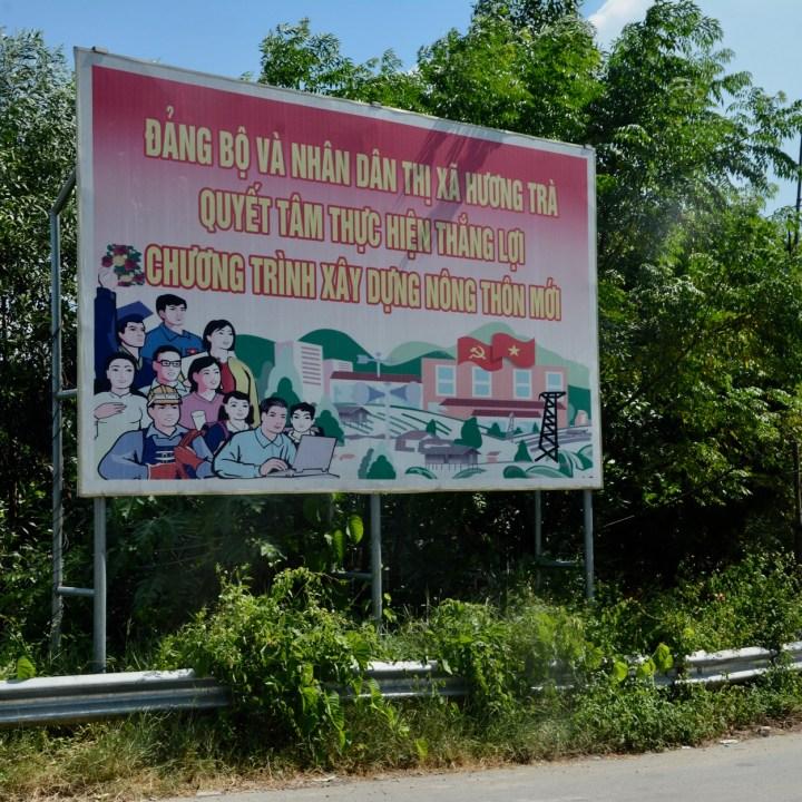 vietnam with kids hue communist advert