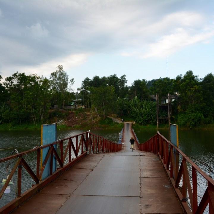 vietnam with kids hue floating bridge