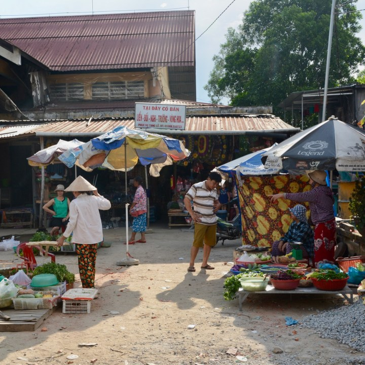 vietnam with kids hue local market