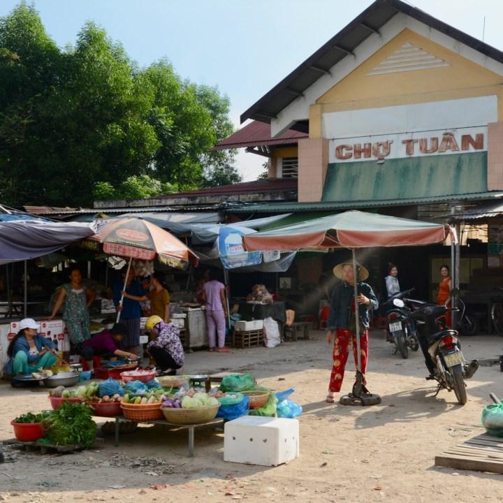 vietnam with kids hue cho tuan market