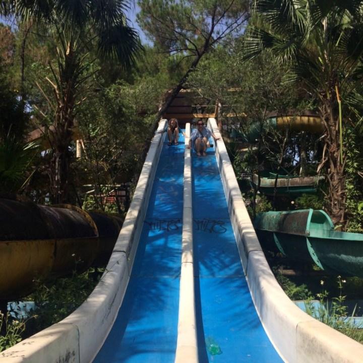 vietnam with kids hue abandoned waterpark slides