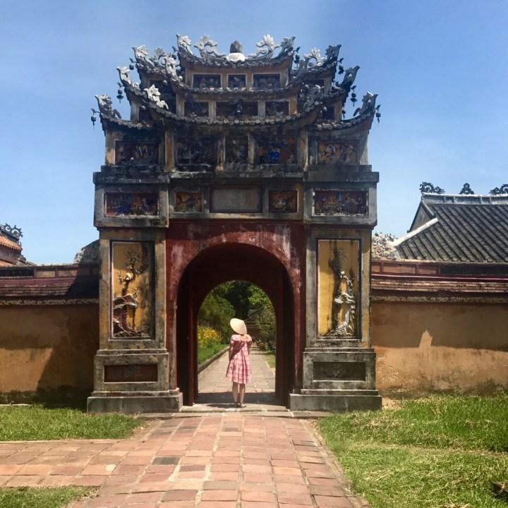 vietnam travel with kids hue citadel entrance gate