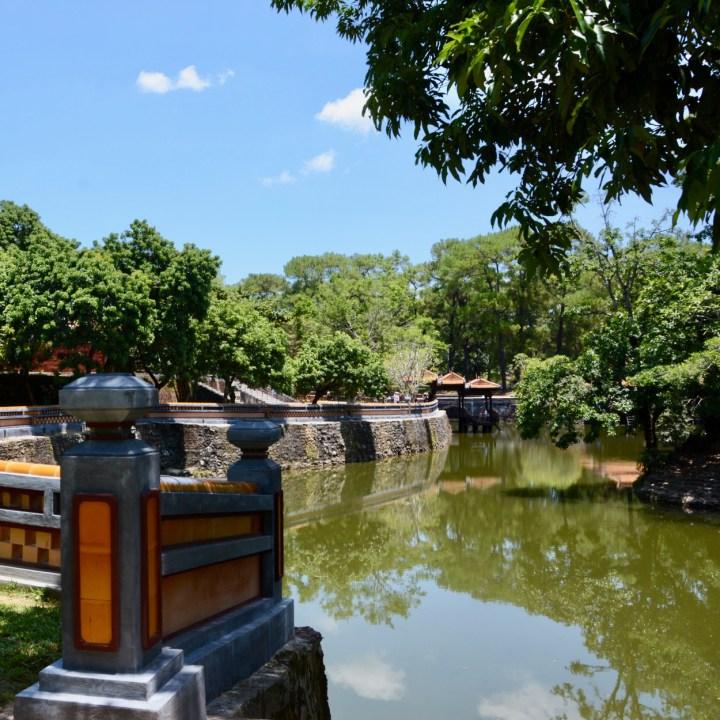 vietnam with kids hue tu duc tomb lake