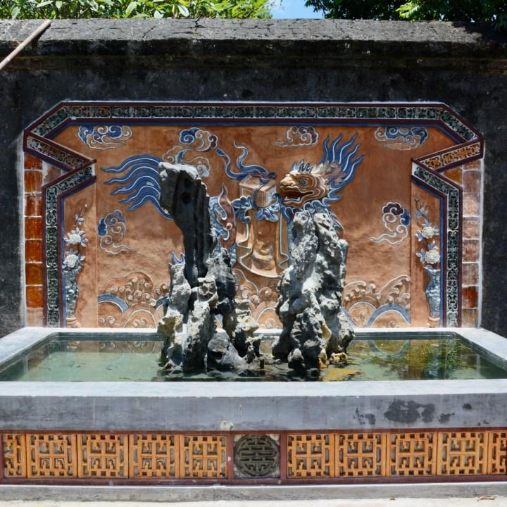 vietnam with kids hue tu duc tomb fountain