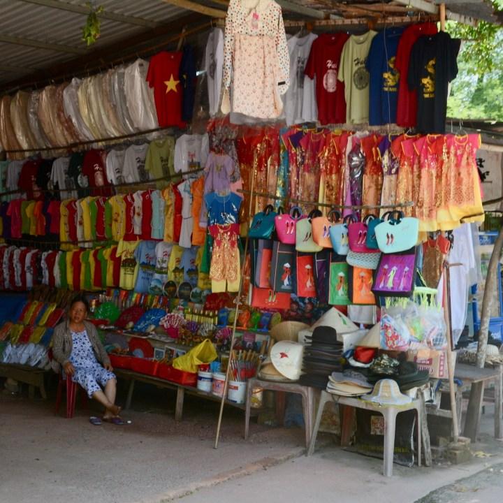 vietnam with kids hue tu duc tomb shopping