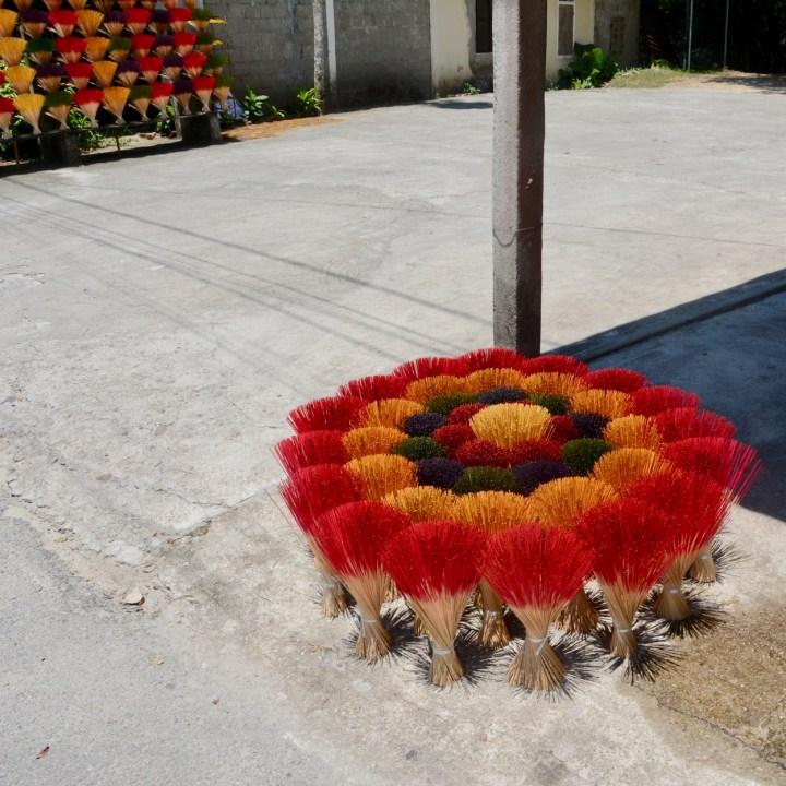 vietnam with kids hue incense stick flower