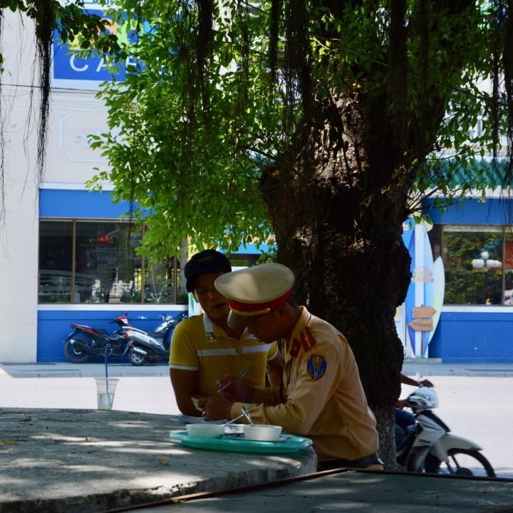vietnam with kids hue police officer