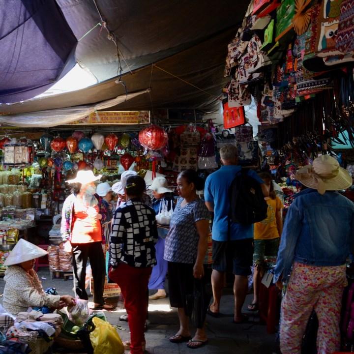 vietnam with kids hue market locals
