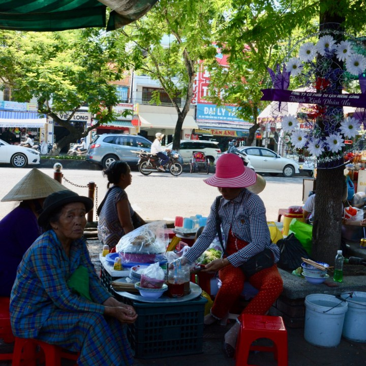 vietnam with kids hue market street view