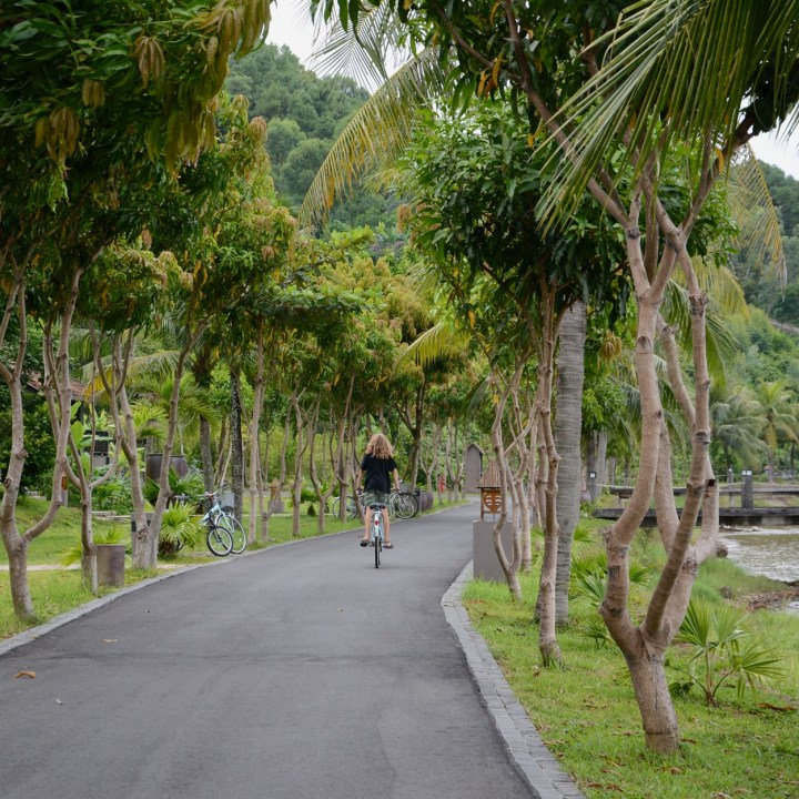 vietnam with kids can hai lagoon vedana resort cycling