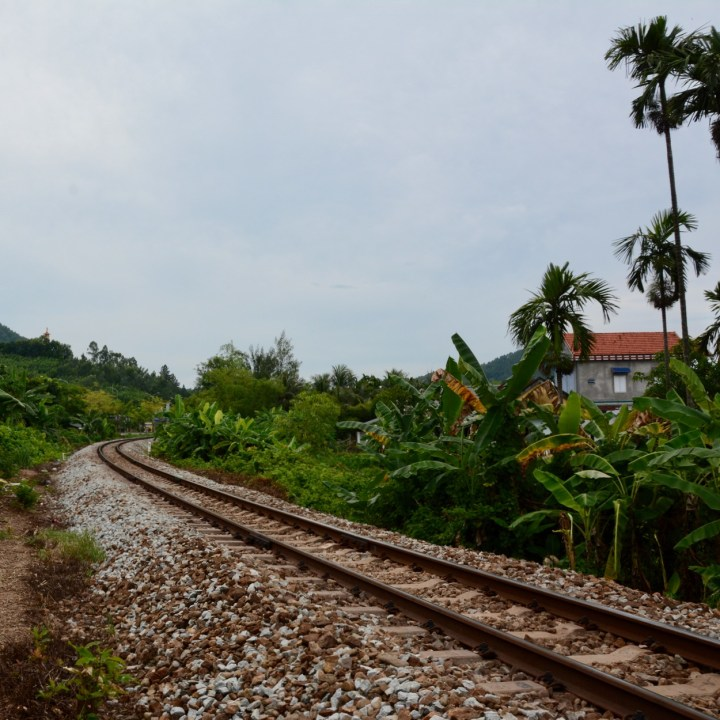 vietnam travel with kids vedana lagoon train tracks