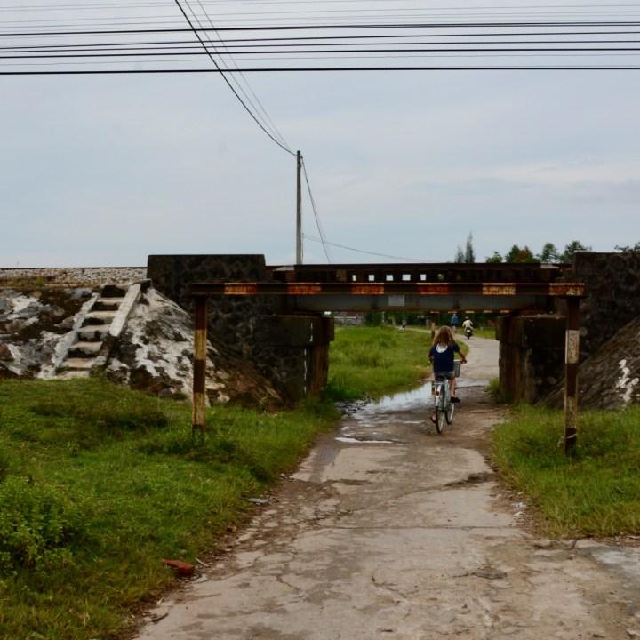 vietnam travel with kids da bac village train bridge