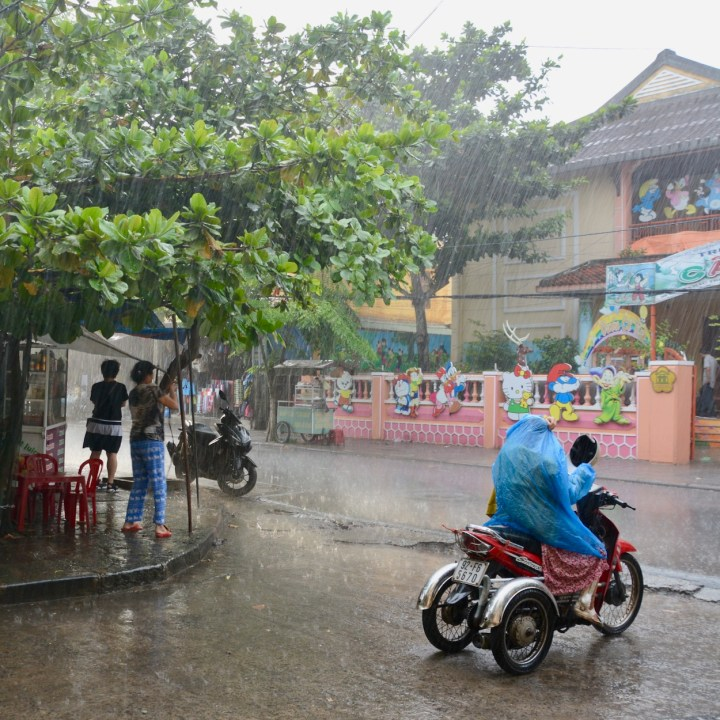 vietnam with kids hoi an torrential rain