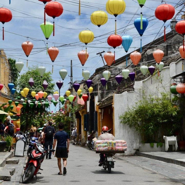 vietnam with kids hoi an lantern street