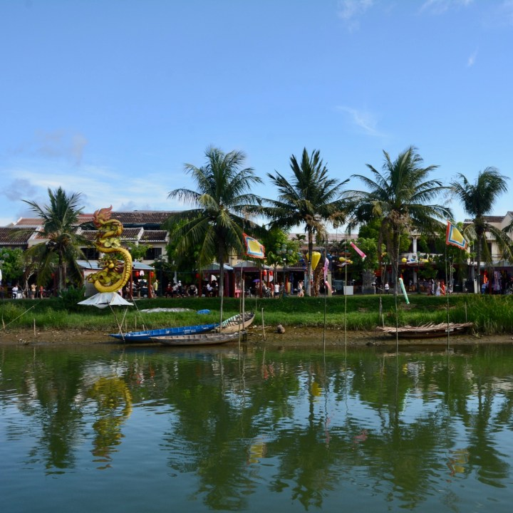 hoi an with kids flags