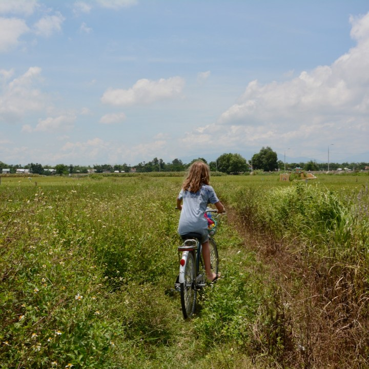 vietnam travel with kids hoi an rural bike ride off road