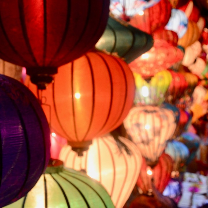 hoi an by night with kids lantern shop