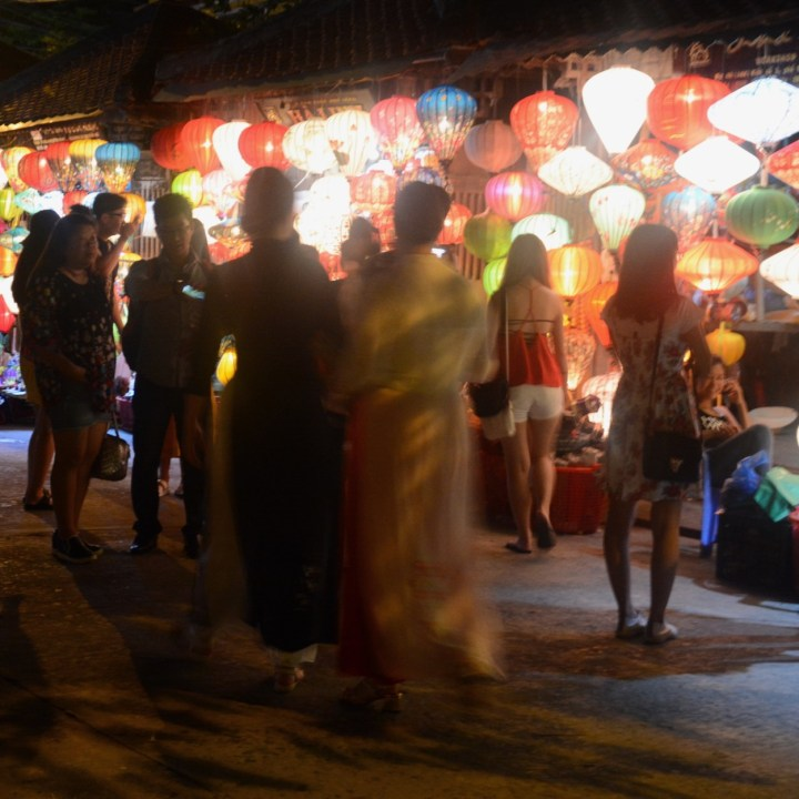 hoi an by night with kids night market