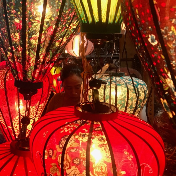 hoi an by night with kids lantern maker